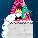 tower princess dragon fairytale fiaba favola snow illustration