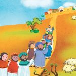 Jerusalem Jesus Disciples illustration religion Christian