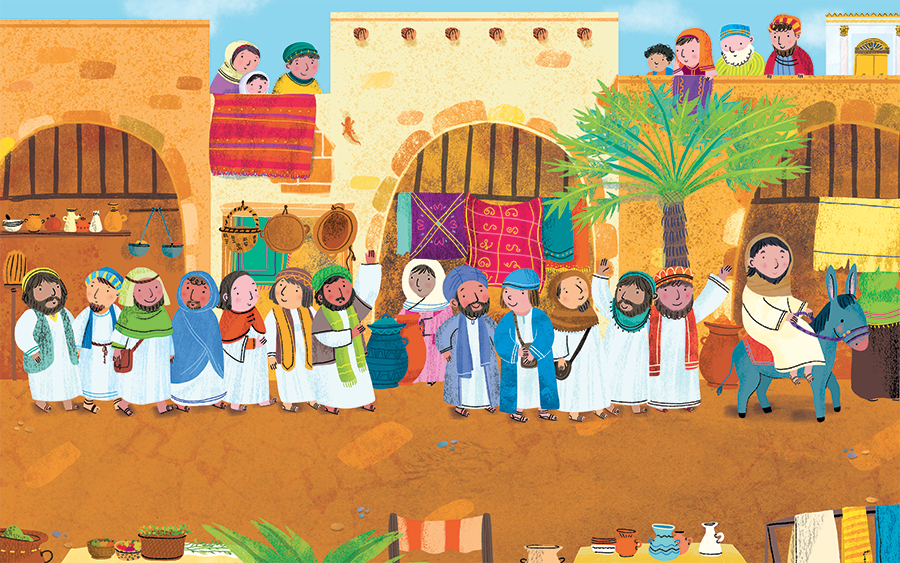 Jesus Disciples Christian Religion Easter Book Children Illustration