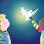 kids children dove peace illustration