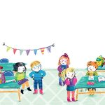 Class school kids student illustration crayon children